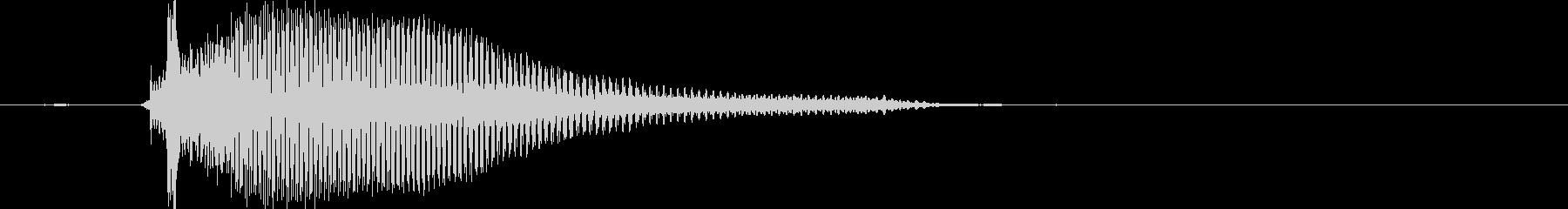 ちゅー(1歳児の生声です)の未再生の波形