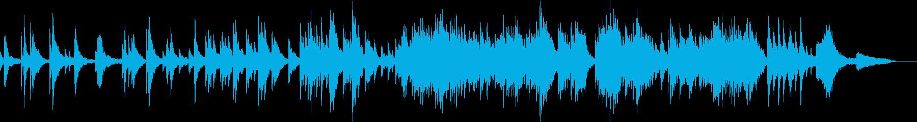 映像・ナレーション用ピアノ演奏(広がり)の再生済みの波形