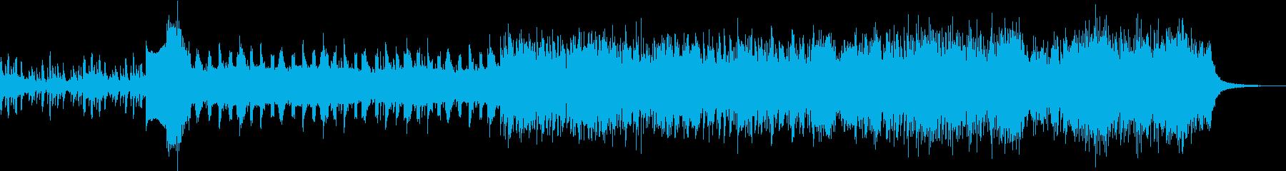 起伏の大きなテクノチューンの再生済みの波形