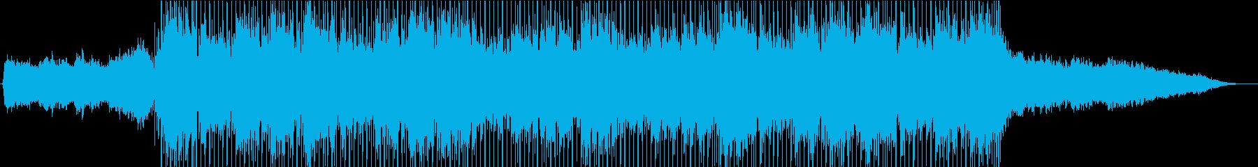 レトロで都会的なSynthwaveの再生済みの波形