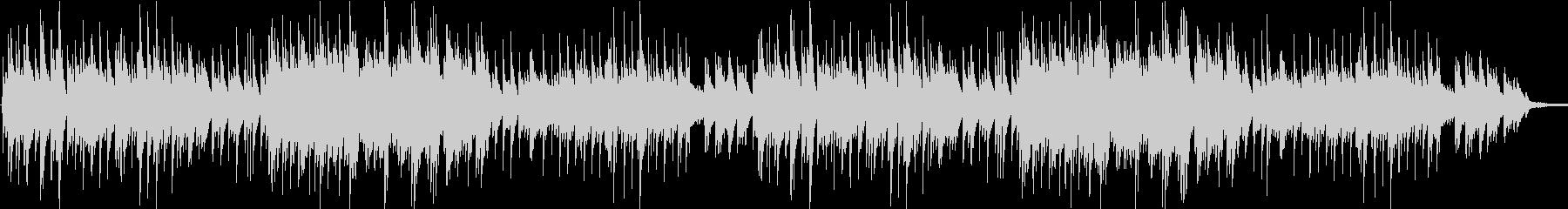 優しい3拍子のシンプルなピアノソロの未再生の波形