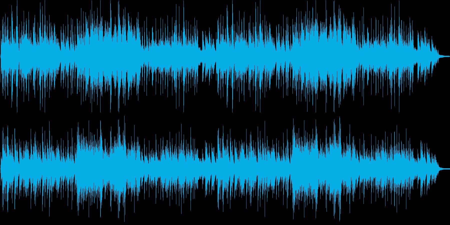 優しい3拍子のシンプルなピアノソロの再生済みの波形