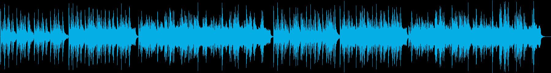 ゆっくりと落ち着いたピアノ オケ付きの再生済みの波形