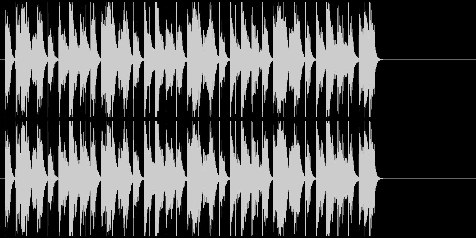 にぎやかで愉快なジングル・BGMの未再生の波形