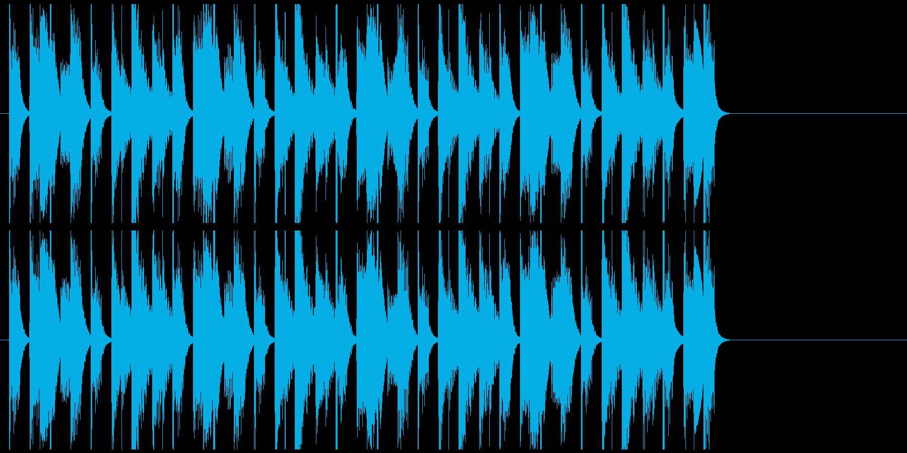にぎやかで愉快なジングル・BGMの再生済みの波形