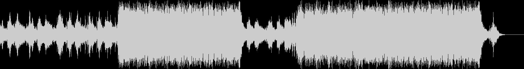 ハリウッド映画 ピアノ系トレーラーの未再生の波形