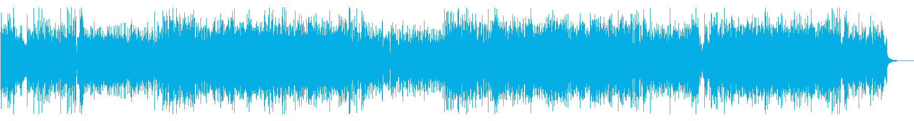 熱血系の前向きな女性ボーカル曲の再生済みの波形