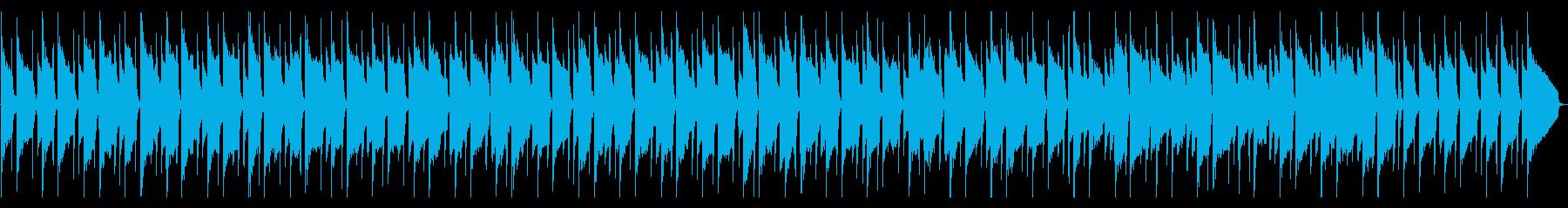 のんびりした日常系BGMの再生済みの波形