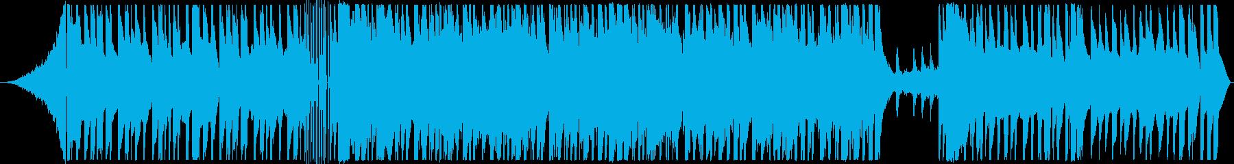 クイズ番組や考え中に流れそうな4つ打ちの再生済みの波形