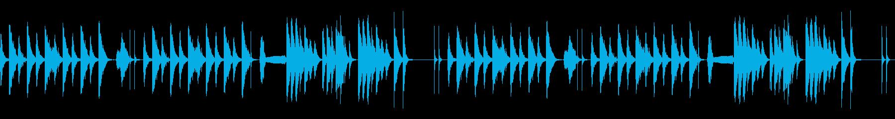 劇伴 シンプル 日常 ネコの鳴き声入Bの再生済みの波形