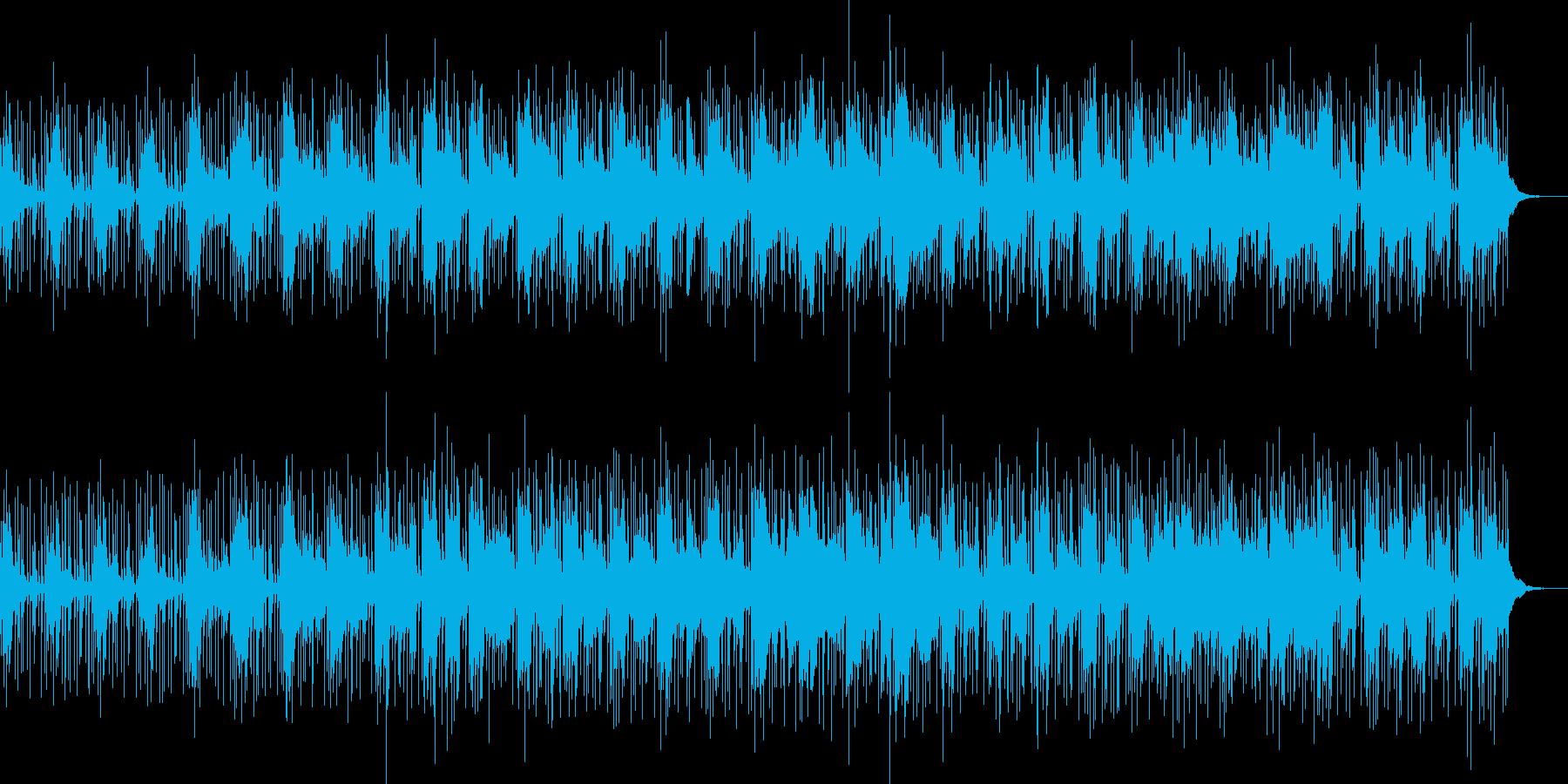 エレクトロミュージックの再生済みの波形
