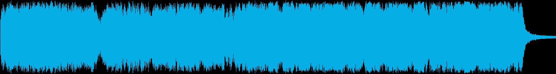 始まりを予感させる躍動的なオーケストラ曲の再生済みの波形