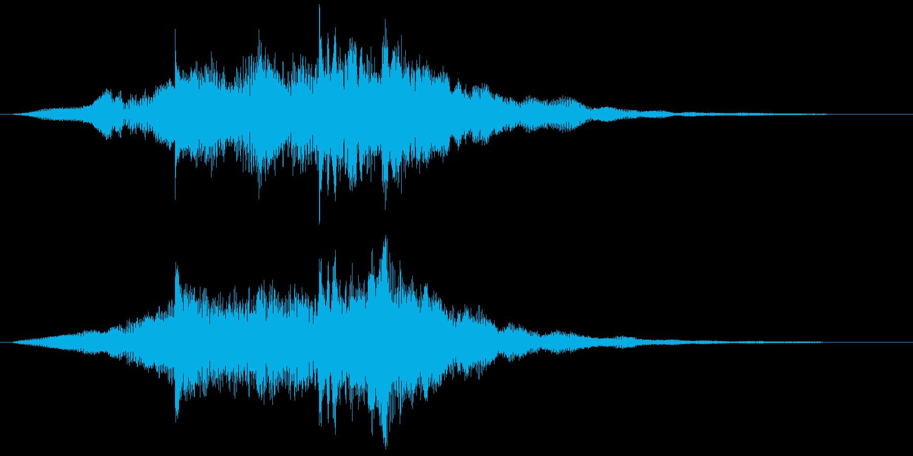 サウンド・ロゴ4、企業、コンテンツ Cの再生済みの波形