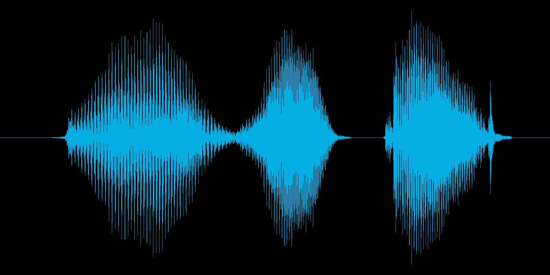 右手の再生済みの波形