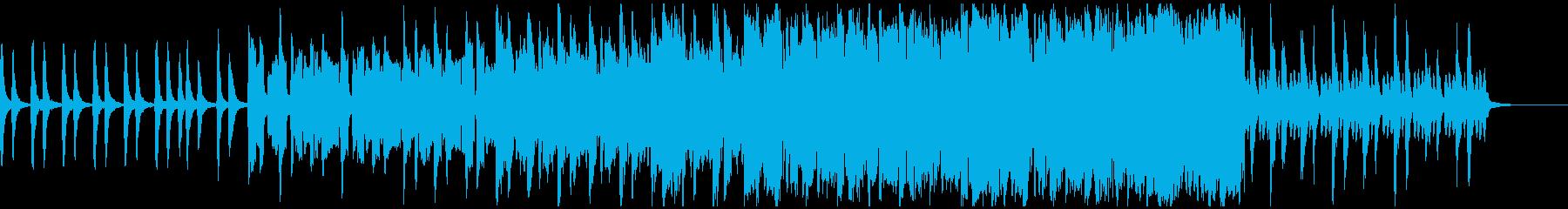 厳かなストリングスの再生済みの波形
