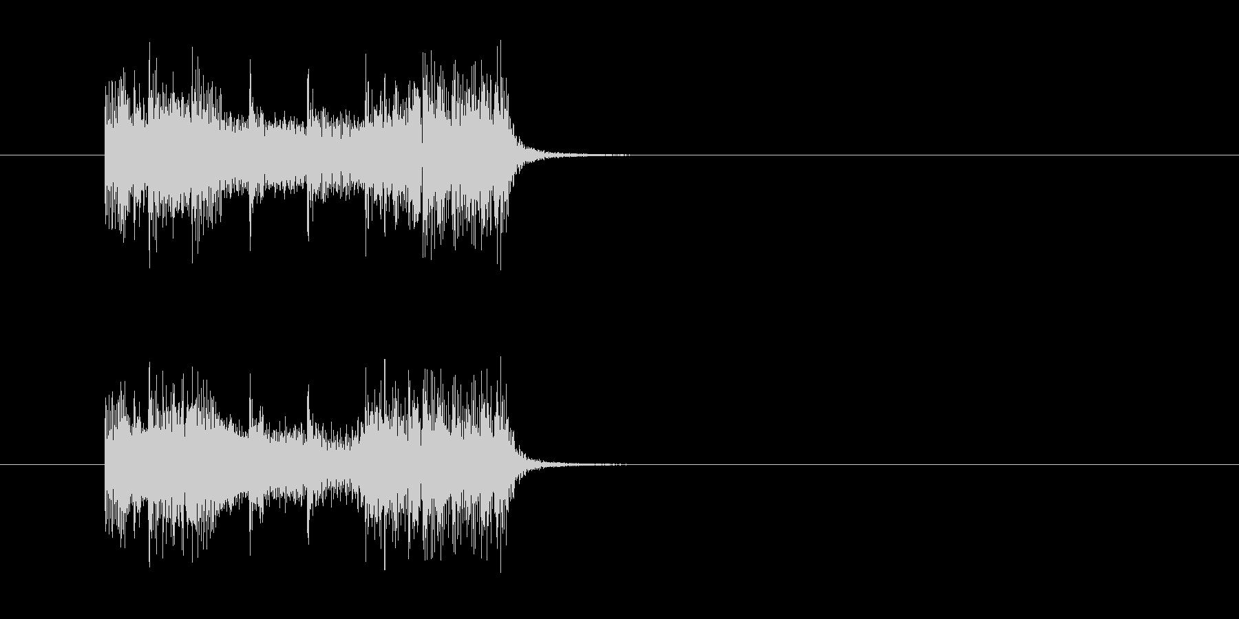 ジングル(エレクトリック・ハード風)の未再生の波形