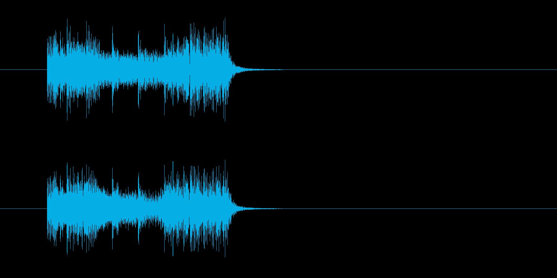 ジングル(エレクトリック・ハード風)の再生済みの波形