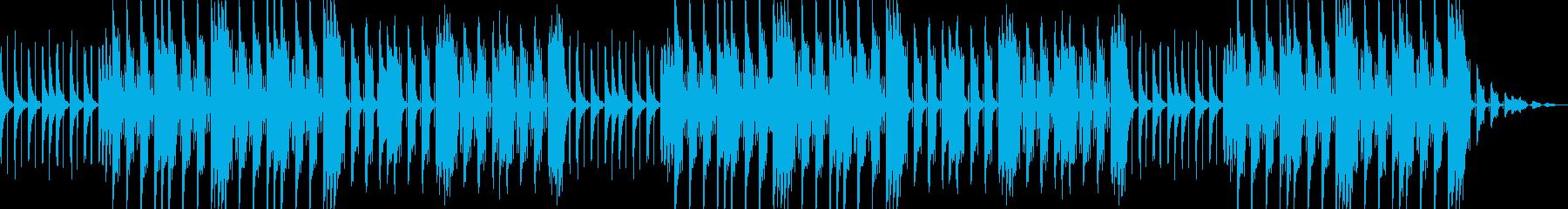 vlogかわいいおしゃれhiphop曲の再生済みの波形