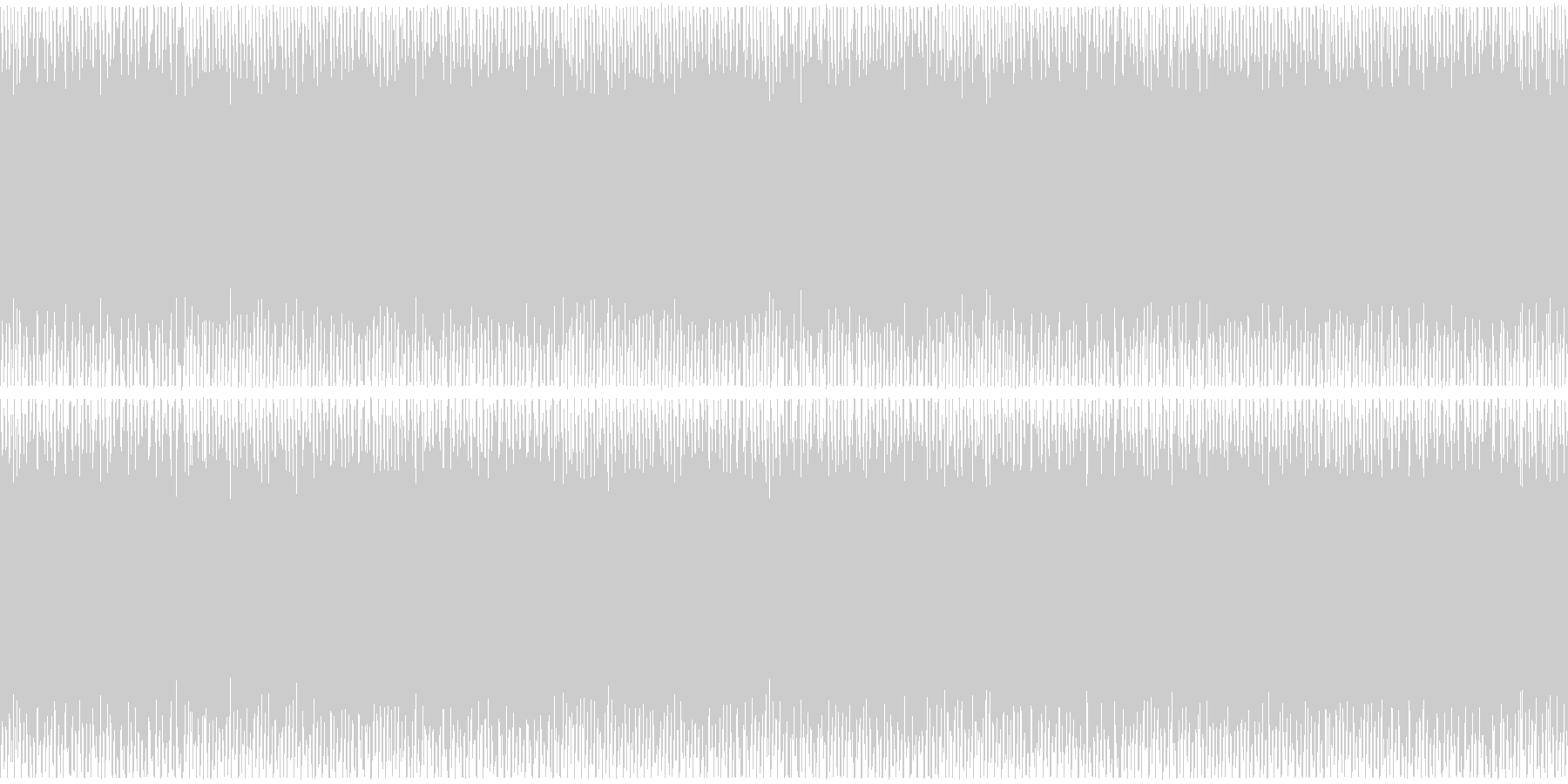ニュースや映像、ループ可能なハウス1の未再生の波形