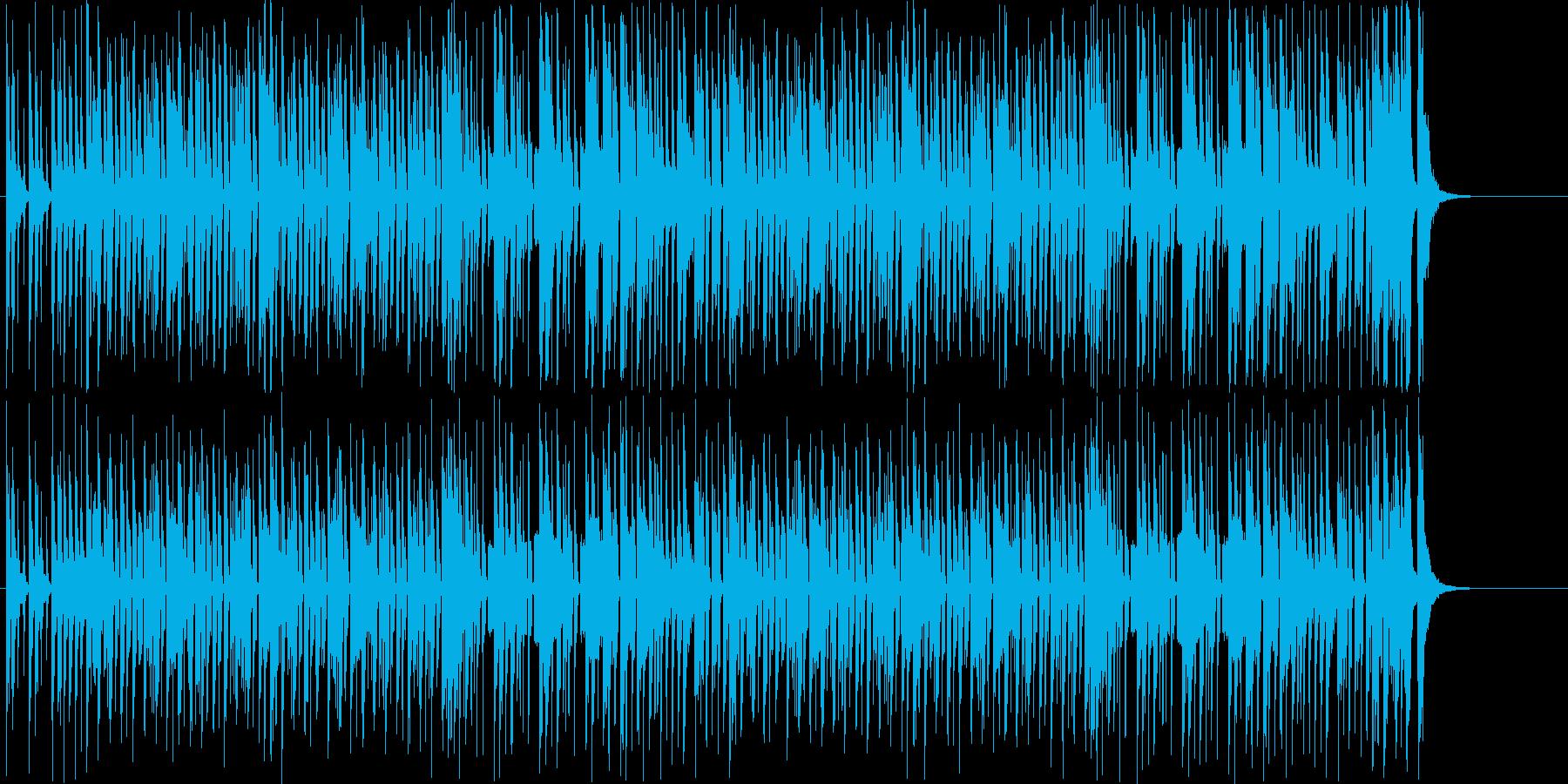 間抜けでコミカルな行進曲・シンセサウンドの再生済みの波形