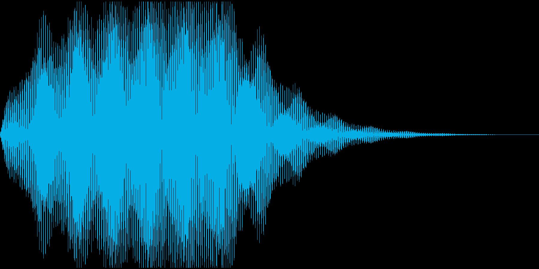 フワワワンの再生済みの波形