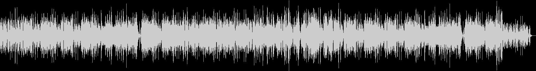 ゆっくりしたフルートのボサノバの未再生の波形