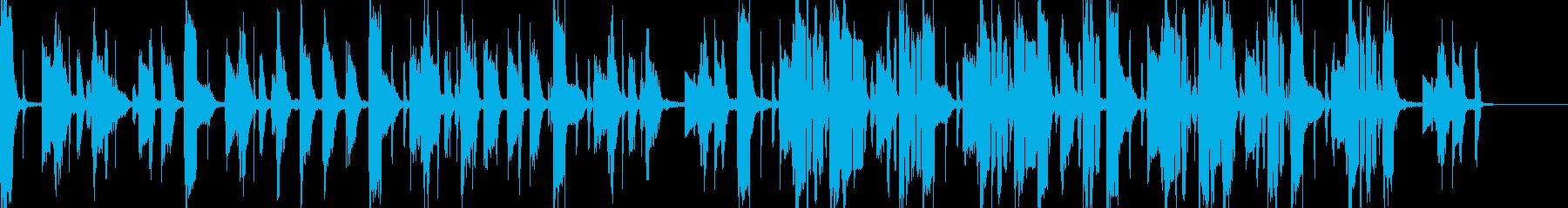ボーカルなしのオシャレなソウルホップの再生済みの波形
