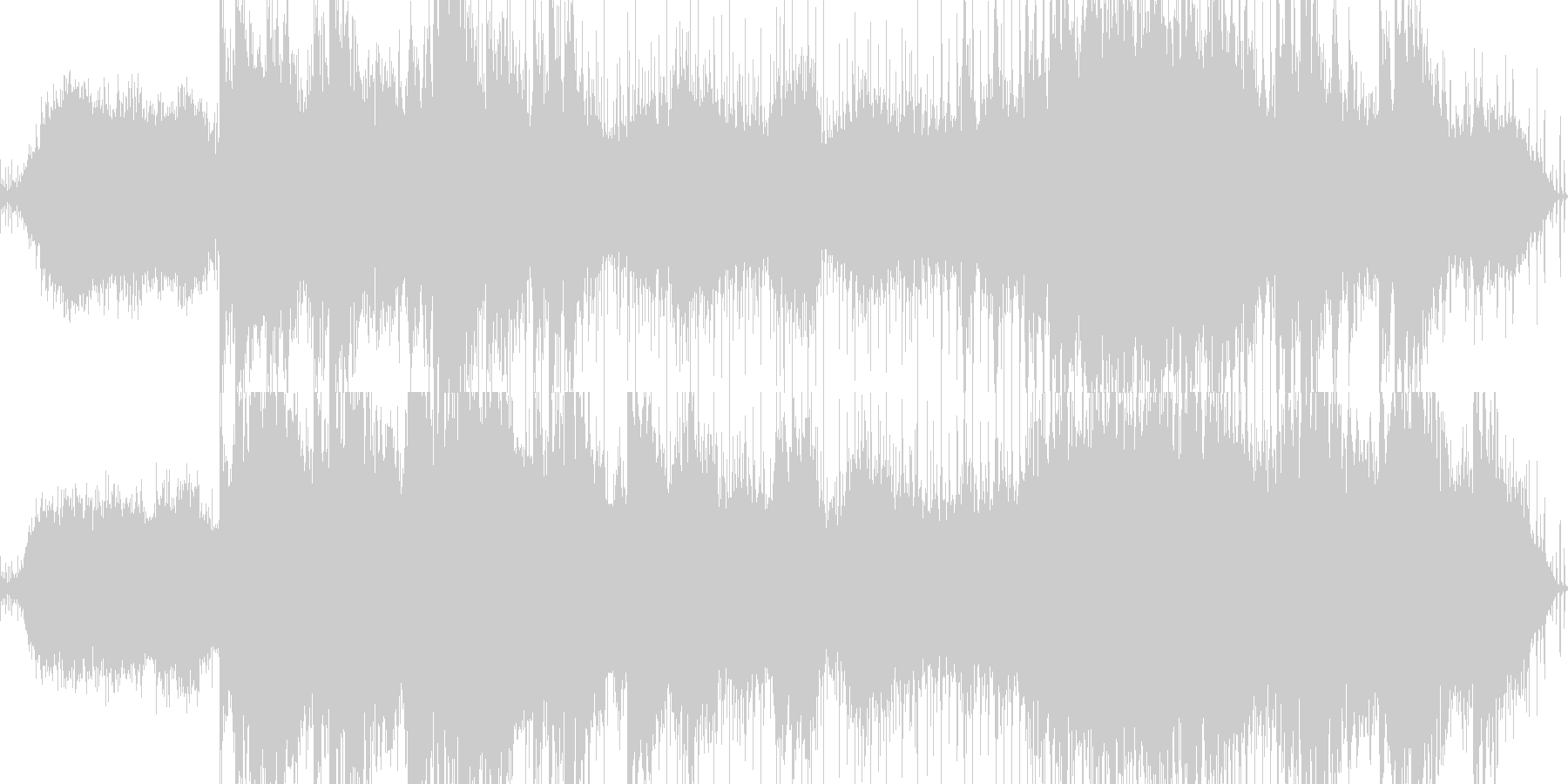 民族調のアンビエント系BGMの未再生の波形