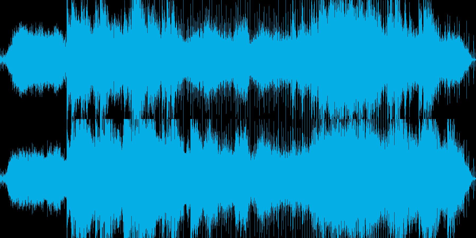 民族調のアンビエント系BGMの再生済みの波形