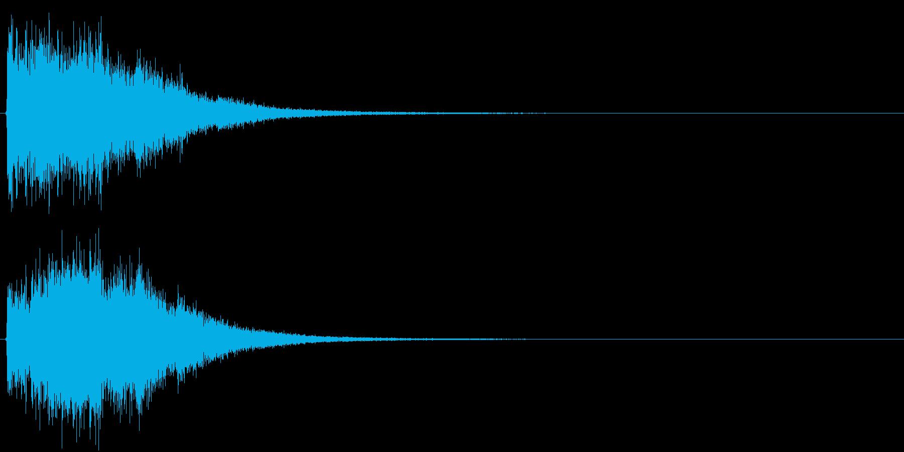 アイキャッチ(硬質・派手)3の再生済みの波形