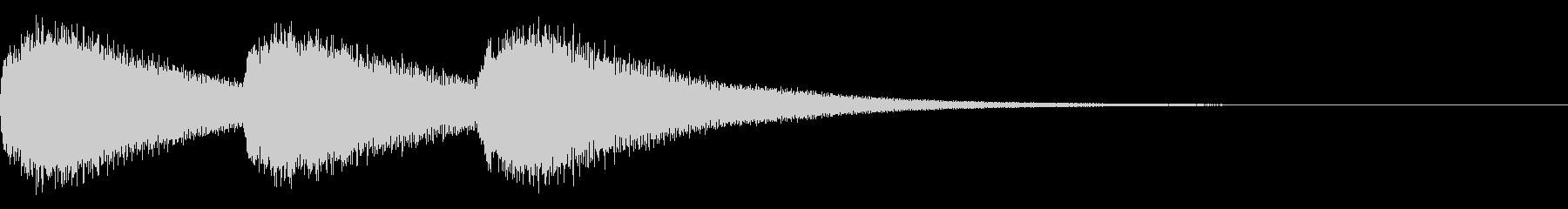 教会のベル 3時の未再生の波形