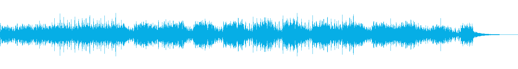 エレクトリックで軽やかなBGMの再生済みの波形