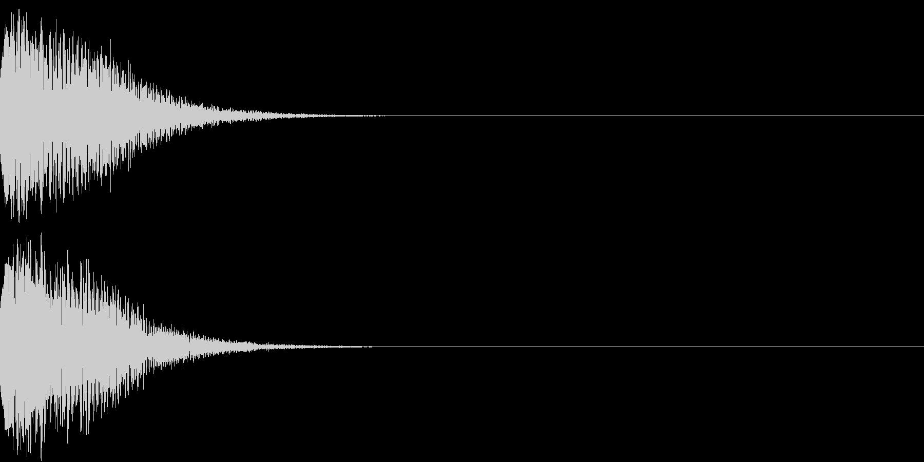 光る キュイーン ピカーン キラン 12の未再生の波形
