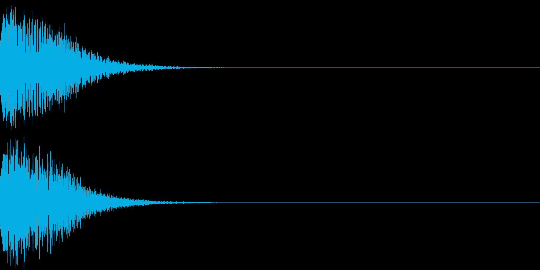 光る キュイーン ピカーン キラン 12の再生済みの波形