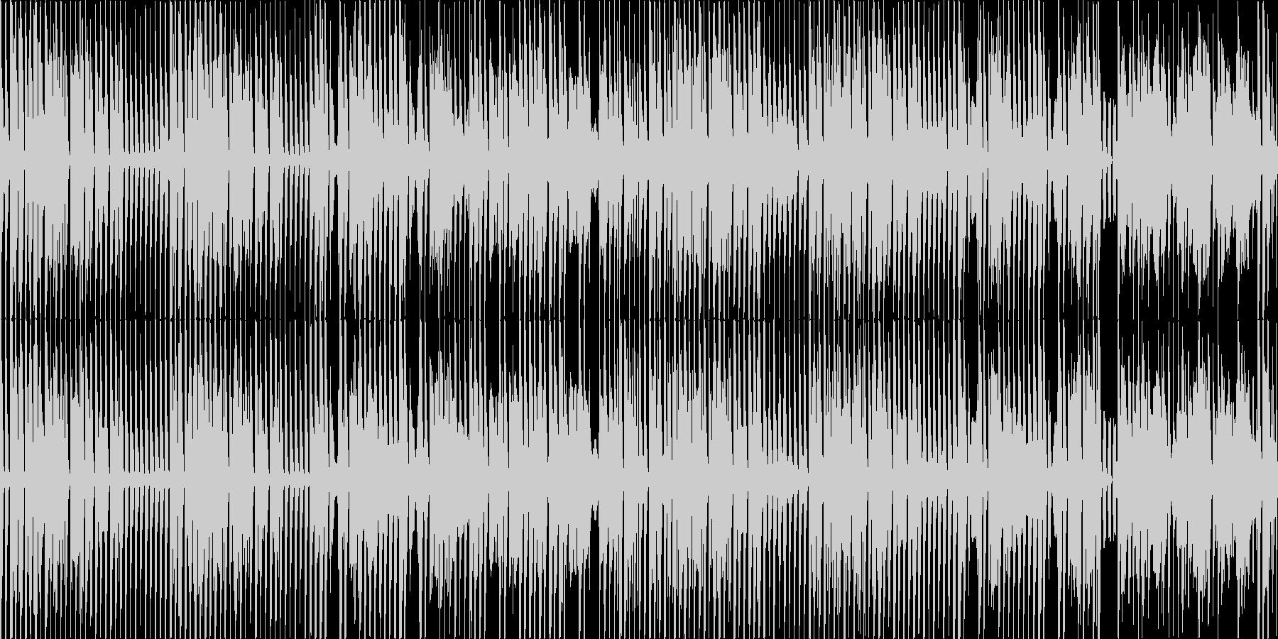テンポの良い明るく元気なリコーダーBGMの未再生の波形