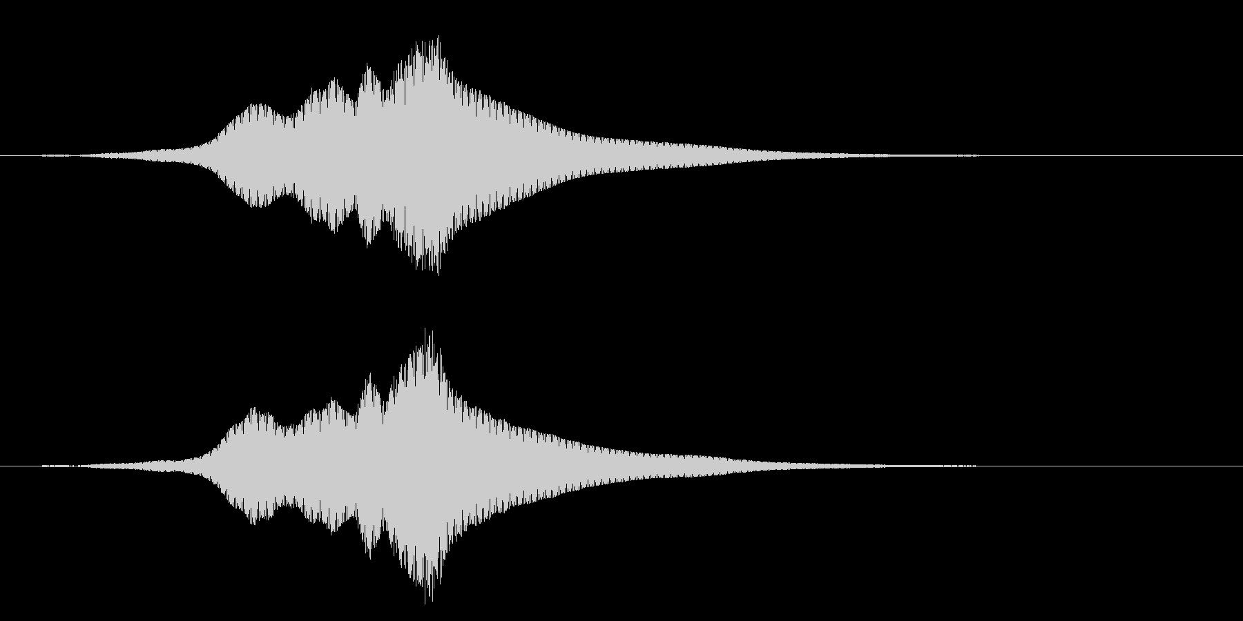深い怖いパスバイの未再生の波形