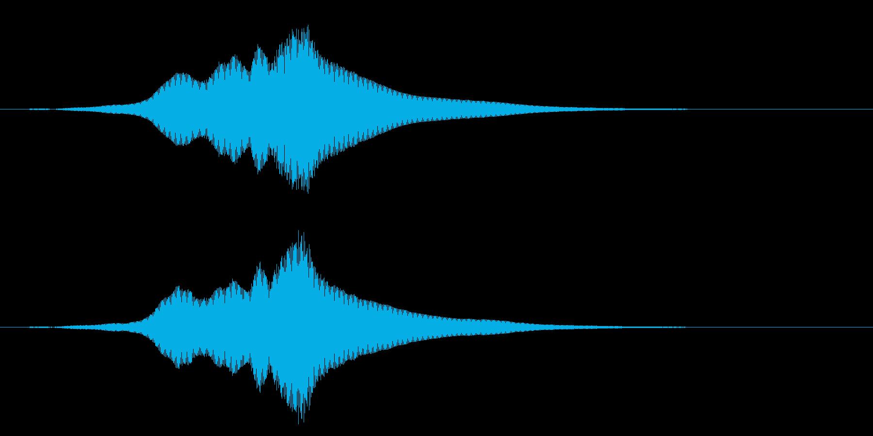 深い怖いパスバイの再生済みの波形