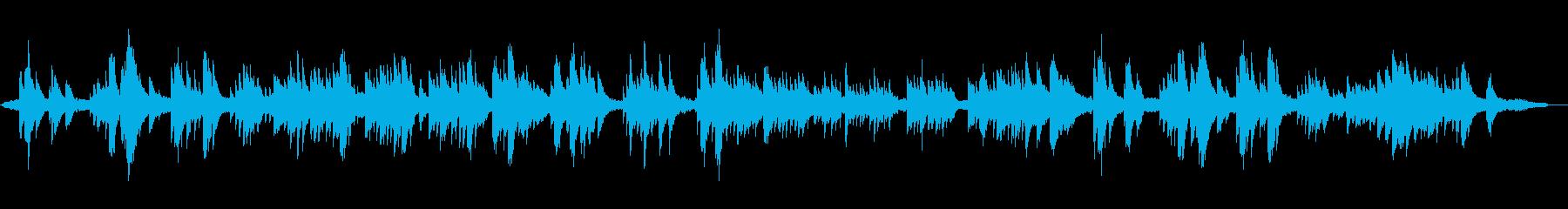 命・天国・空のイメージのヒーリングピアノの再生済みの波形