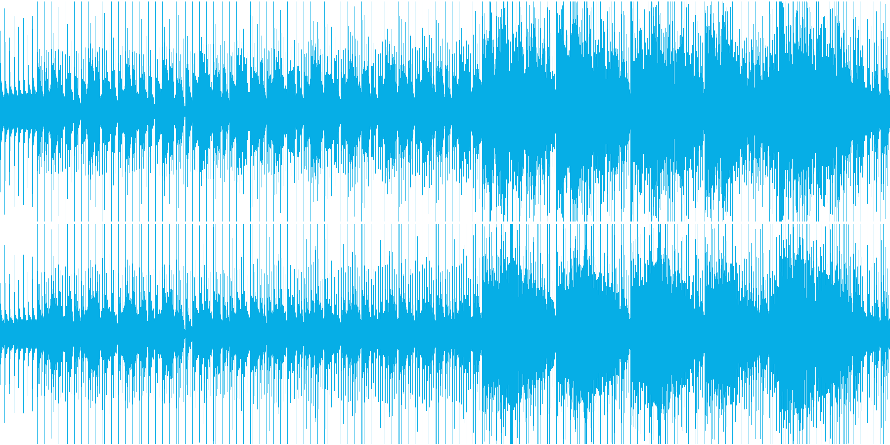 物悲しい雰囲気のスローテンポ和風曲ループの再生済みの波形