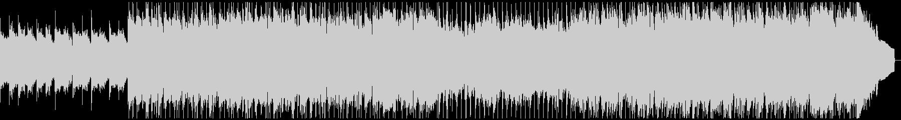 アンビエントなギターのプログレ風ロックの未再生の波形