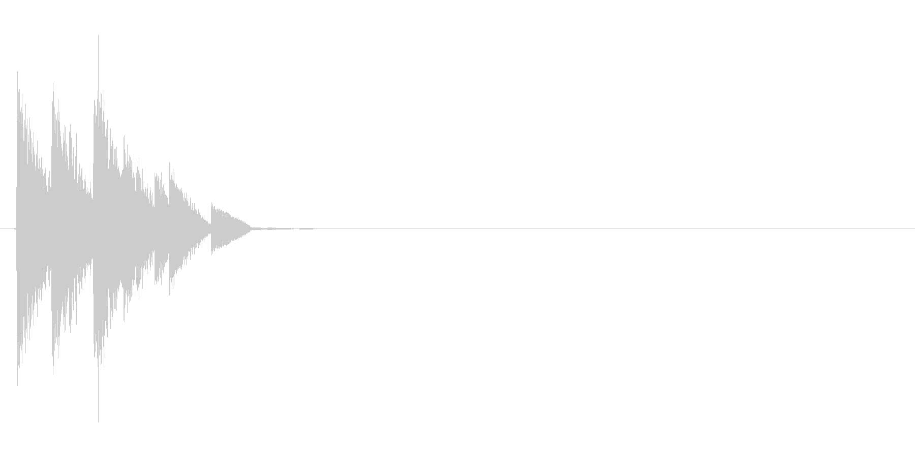 金属的なサウンドの決定音の未再生の波形