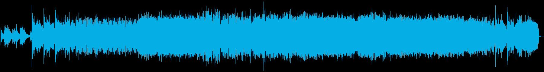 エキサイティングなメタルチューンの再生済みの波形