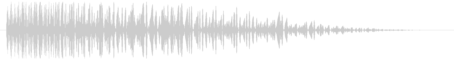 爆発音(鈍い、中規模)の未再生の波形