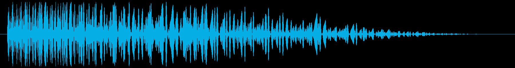 爆発音(鈍い、中規模)の再生済みの波形