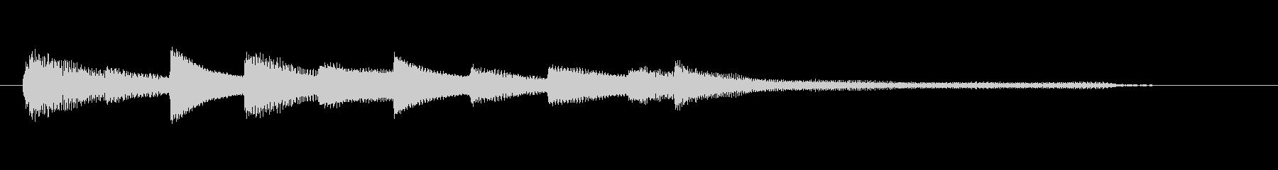 チャプター・場面転換等にピアノジングルGの未再生の波形