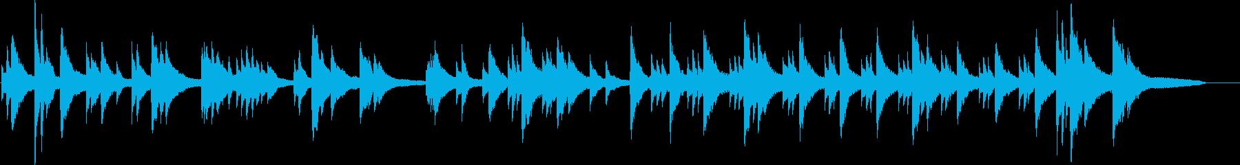 オリジナルのピアノソロの再生済みの波形