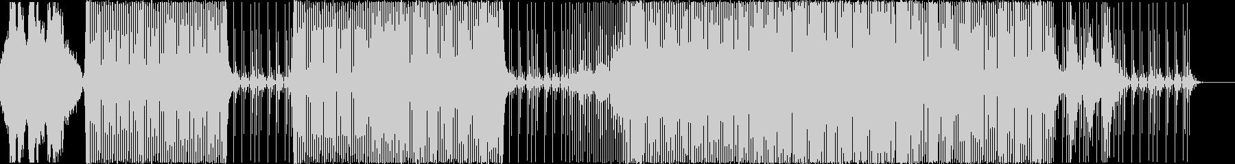 ミステリアスなキック強めのハウスBGMの未再生の波形