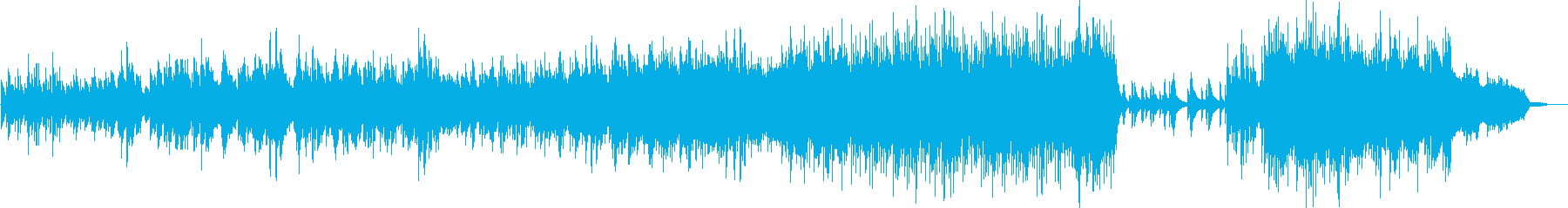 ノスタルジックで寂しい旋律のピアノ曲の再生済みの波形
