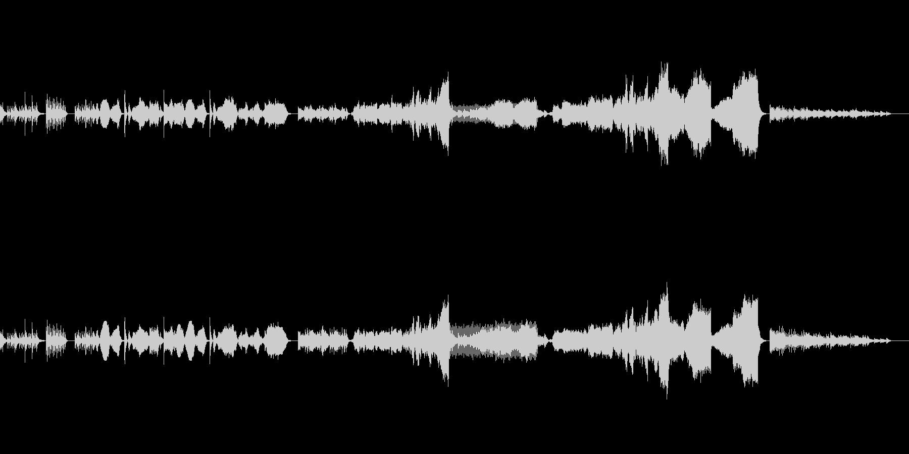 ギター・ハープと弦のアンサンブルの未再生の波形
