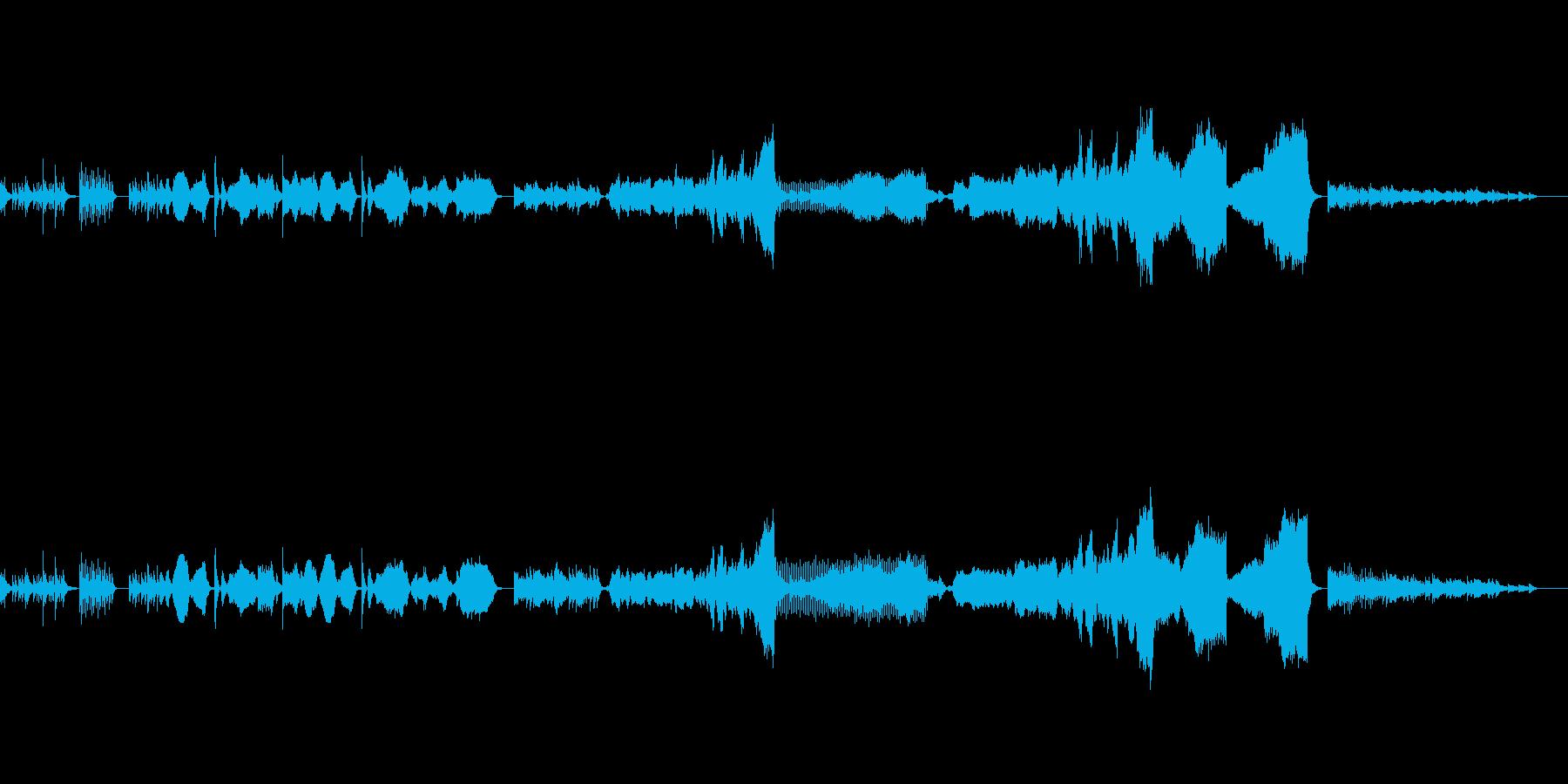 ギター・ハープと弦のアンサンブルの再生済みの波形
